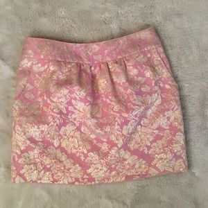 Gold and Pink Mini Skirt